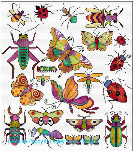 click here to view larger image of Bugs and Butterflies (chart)