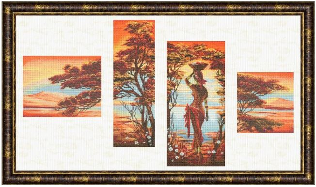click here to view larger image of Orange River (counted cross stitch kit)