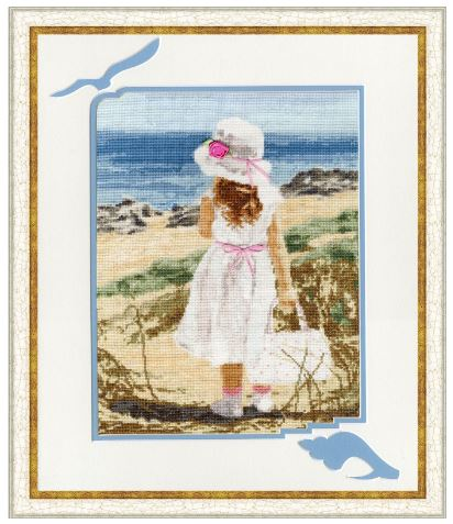 click here to view larger image of Beach (counted cross stitch kit)