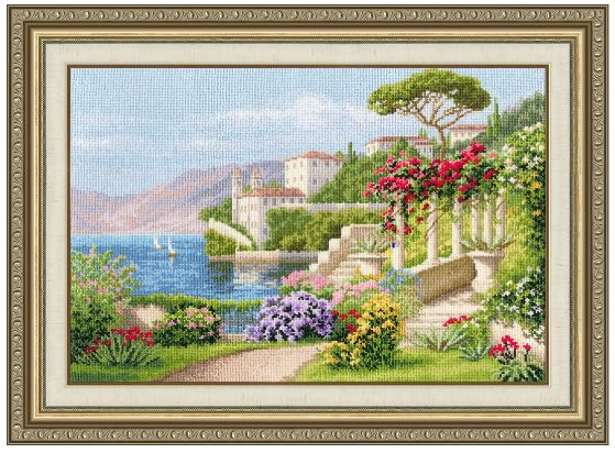 click here to view larger image of Blooming Italy (counted cross stitch kit)