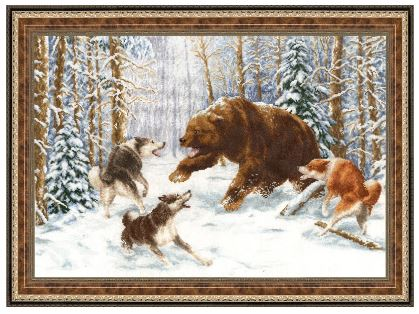 click here to view larger image of Owner Of The Forest (counted cross stitch kit)