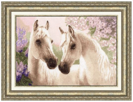 click here to view larger image of Arab Horses (counted cross stitch kit)