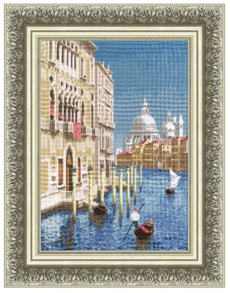 click here to view larger image of Beautiful Venice (counted cross stitch kit)