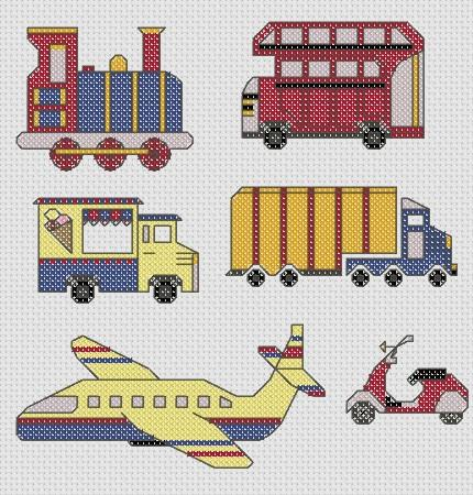 click here to view larger image of Transport Mini Motifs (chart)
