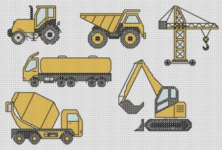 click here to view larger image of Construction And Industry Mini Motifs (None Selected)