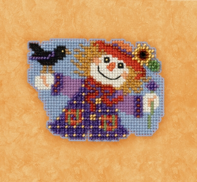 click here to view larger image of Sally Scarecrow - Autumn Harvest Series (counted cross stitch kit)