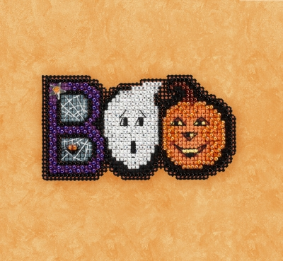 click here to view larger image of Boo - Autumn Harvest Series (counted cross stitch kit)