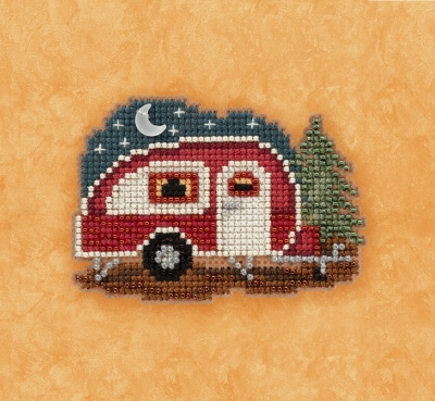 click here to view larger image of Happy Camper - Autumn Harvest Series (counted cross stitch kit)