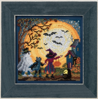 click here to view larger image of Moonlit Treaters (counted cross stitch kit)