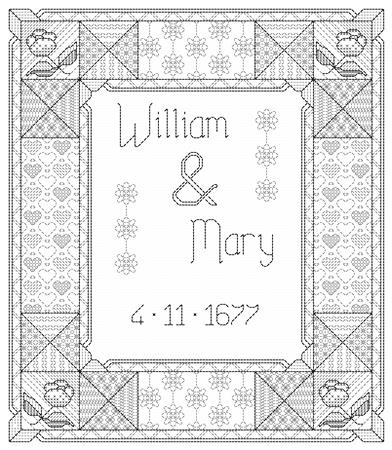 click here to view larger image of Blackwork Wedding Sampler (chart)