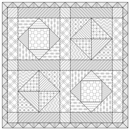 click here to view larger image of Blackwork Patchwork Sampler (chart)