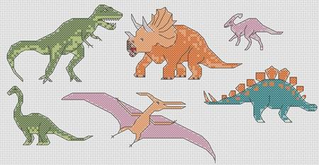 click here to view larger image of Dinosaurs Mini Motifs (chart)