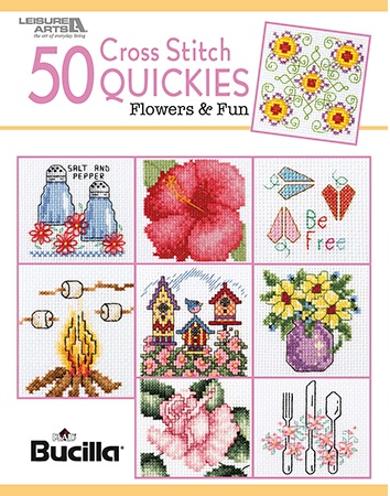 click here to view larger image of 50 Cross Stitch Quickies - Flowers And Fun (book)