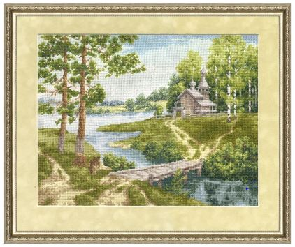 click here to view larger image of Chapel Near The River (counted cross stitch kit)