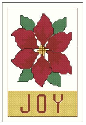 click here to view larger image of Ornament The Joy Of Poinsettias (chart)