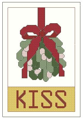 click here to view larger image of Ornament The Kiss Of Mistletoe (chart)