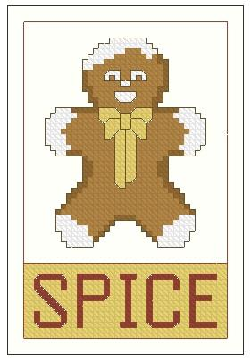 click here to view larger image of Ornament The Spicy Gingerman (chart)