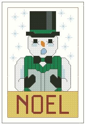 click here to view larger image of Ornament The Sing-Noel Snowman (chart)
