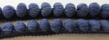 click here to view larger image of Miguels Navy Pom Pom (2 yd) (fiber)
