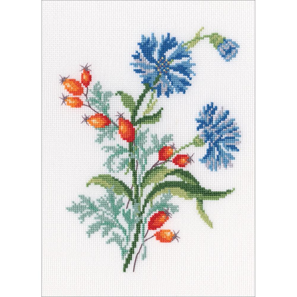 click here to view larger image of Cornflowers (counted cross stitch kit)