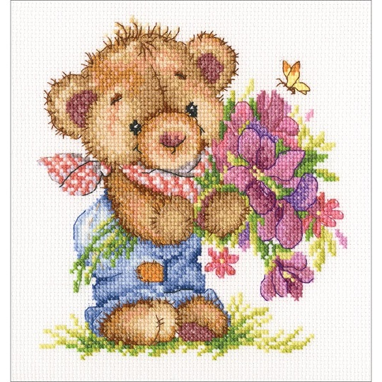 click here to view larger image of Giving You Flowers (counted cross stitch kit)