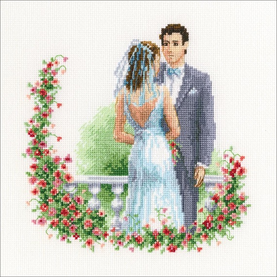 click here to view larger image of Wedding (counted cross stitch kit)