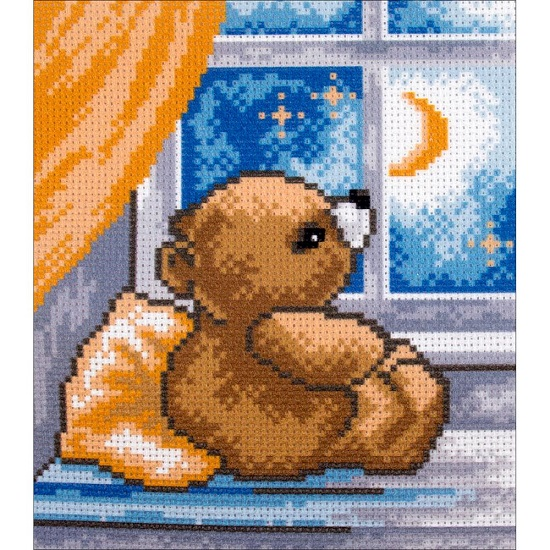 click here to view larger image of Time To Sleep (stamped cross stitch)