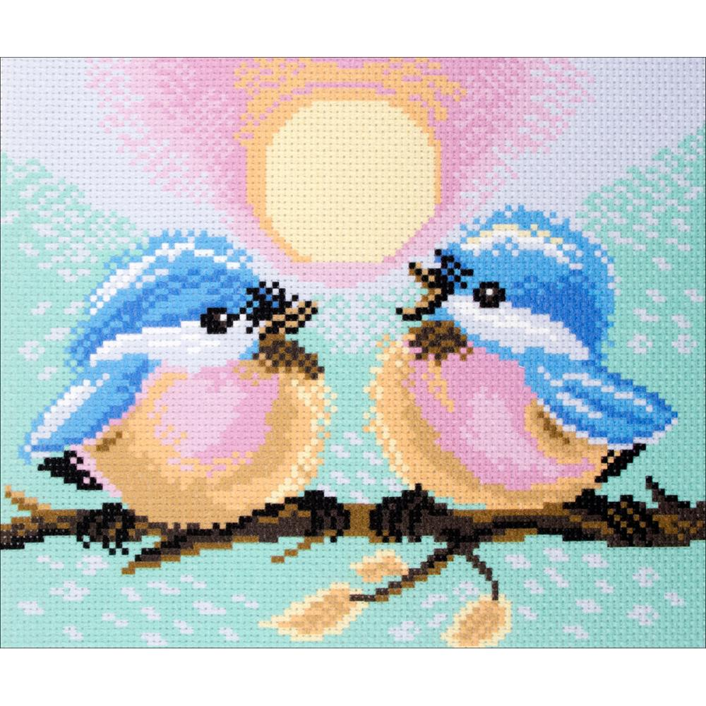 click here to view larger image of Two Birds (stamped cross stitch)
