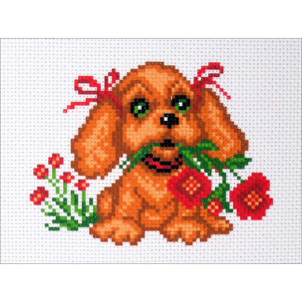 click here to view larger image of My Puppy (stamped cross stitch)