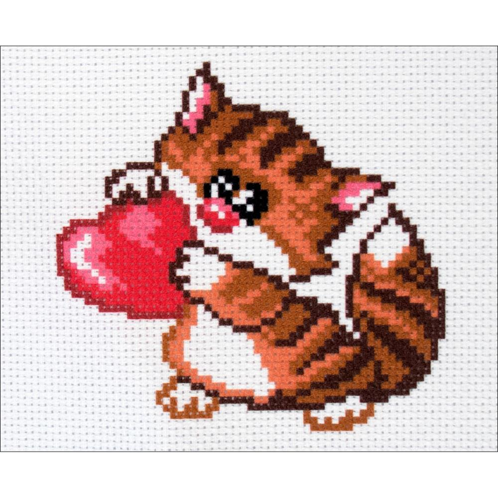 click here to view larger image of Meow (stamped cross stitch)