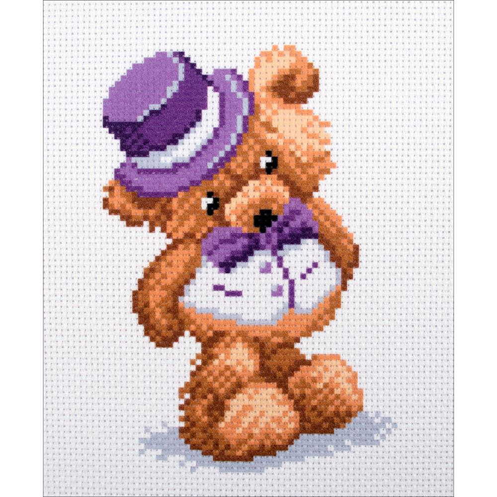 click here to view larger image of Teddy-Boy (stamped cross stitch)