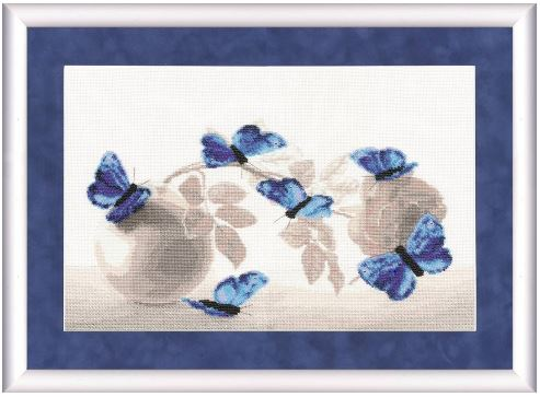 click here to view larger image of Azure Waltz (counted cross stitch kit)