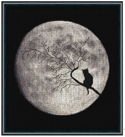 click here to view larger image of Moon Sonata (counted cross stitch kit)