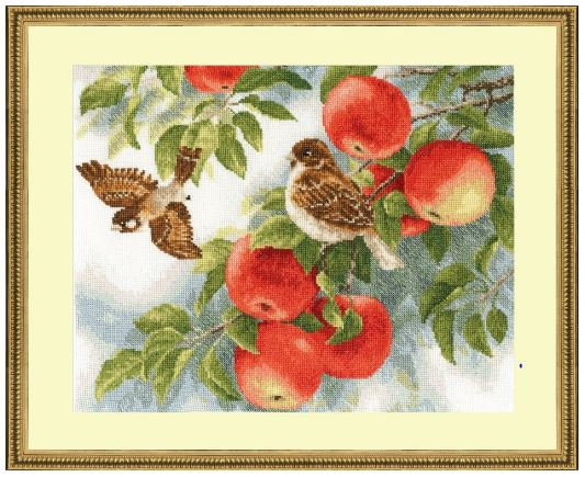 click here to view larger image of Sparrows (counted cross stitch kit)