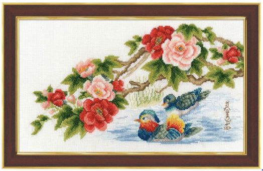 click here to view larger image of Mandarins (counted cross stitch kit)