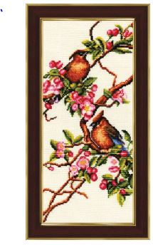 click here to view larger image of Blooming Apple Trees (counted cross stitch kit)