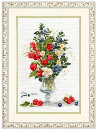 click here to view larger image of Berry Bouquet (counted cross stitch kit)