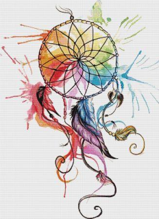 click here to view larger image of Color Wheel Dreamcatcher (chart)