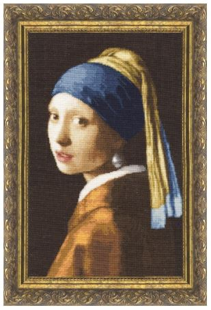 click here to view larger image of Girl With Pearl Earrings (counted cross stitch kit)