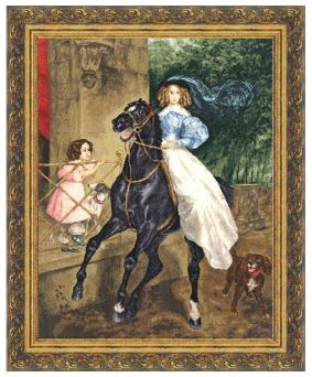 click here to view larger image of Horserider (counted cross stitch kit)