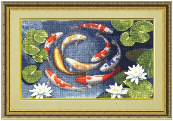 click here to view larger image of Koi (counted cross stitch kit)