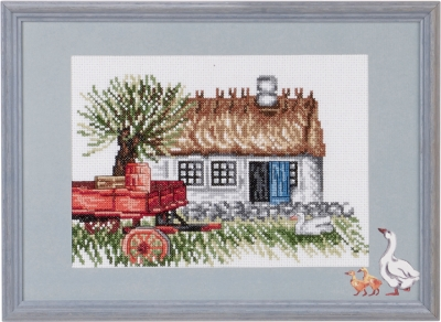 click here to view larger image of Wagon Red (counted cross stitch kit)