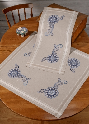 click here to view larger image of Mandala Table Runner (Top) (stamped cross stitch kit)