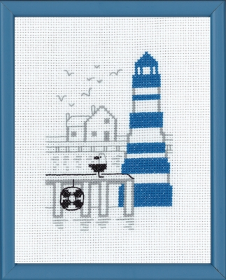 click here to view larger image of Blue Lighttower (counted cross stitch kit)