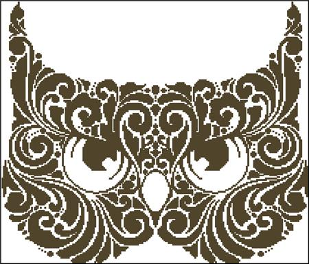 click here to view larger image of Owl Mask Silhouette (chart)