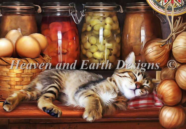 click here to view larger image of Quick Stitch - Ye Old Kitchen Kitten (chart)