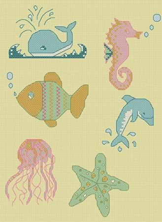 click here to view larger image of Sea Creatures Mini Motifs (chart)