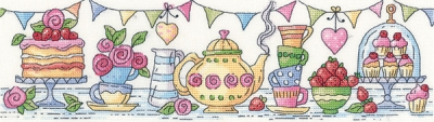 click here to view larger image of Afternoon Tea (27ct) (counted cross stitch kit)