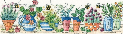 click here to view larger image of Herb Garden (27ct) (counted cross stitch kit)