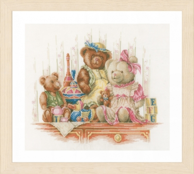 click here to view larger image of Bears and Toys (counted cross stitch kit)